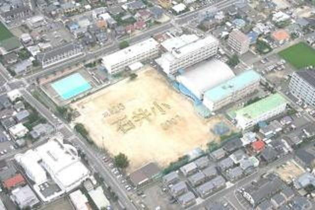 松山市立石井小学校航空写真